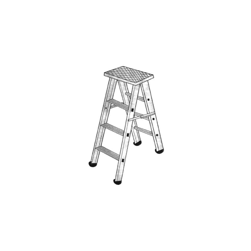 Bs 2115 Aluminium Self Supporting Stool Type Folding